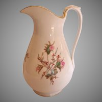 "French Haviland Limoges Large 12"" Pitcher Moss Rose c 1868 – 1876"