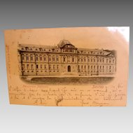 Postcard Manufacture Nationale Sevres in France Dated 1898 to Rousseau in Belgium