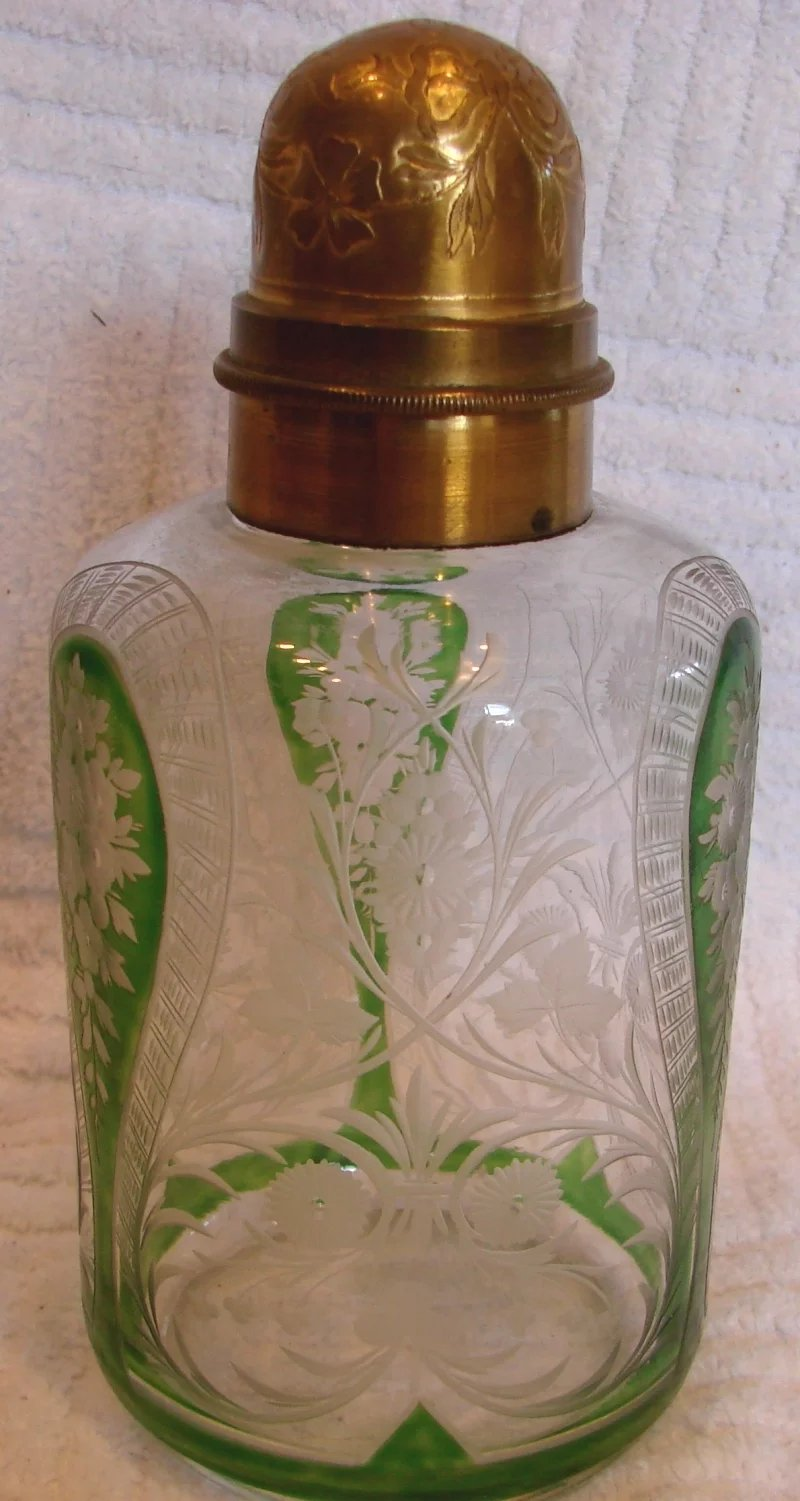 French Saint Louis Art Glass Crystal Scent Perfume Bottle