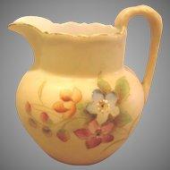 English Royal Worcester Hand Painted Miniature Jug Vase or Toothpick Holder c 1903-1904