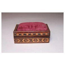 Tunbridge Ware Rosewood Pin Cushion Box, c.1870