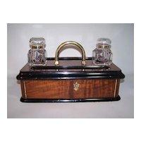 Burl Walnut Desk Stand c.1860
