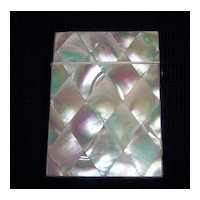 Large Victorian Mother of Pearl Card Case, c.1880