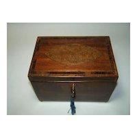 Sheraton Period Fruitwood Tea Caddy, c.1785
