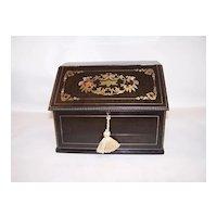 Napoleon III French Boulle Stationery Box, c.1850