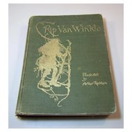 "Irving, ""Rip Van Winkle,"" Arthur Rackham Illus., First U.S. Rackham Trade Edition, Doubleday, Page & Co., c.1905"