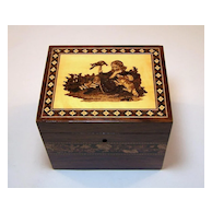 Tunbridge Ware Single Tea Caddy, c.1850