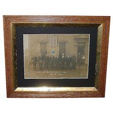 "Rare Civil War 200th Pa. Regiment Survivors of Ravaged Company ""E"" Veterans Reunion Photo In Mechanicsburg, Pa. In 1906 !!!  Veteran Host Identified as Pvt. George Buffington."