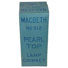 Mint Unused Flange Lip 2 3/8 inch Chimney MacBeth No.512 Still in Factory Shipping Box & Advertising Wrapping Paper !