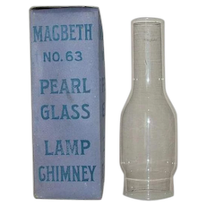 "Mint Unused No.63 ""MacBeth"" Standard #2 Size Chimneys with Straight Fitters and Still in Factory Boxes and Advertising Paper Wrappers !"