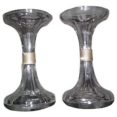 """Original """"Sets of  Glass Stands"""" to support  Glass Shelves  inside Showcases !"""