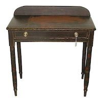 Ohio Valley attributed Original Painted Sheraton Side Table with Single drawer !
