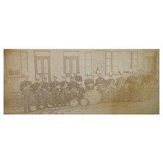 Civil War Period, Unknown Coronet Band, Sidewalk Group Photo .