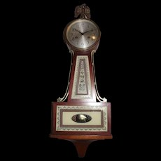 Seth Thomas 8 Day Time & Hourly Chime Banjo Clock !!! Made circa 1950's.