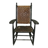 """Stamped """"L. J. Colony Keene,NH."""" Manufactured Child's Rocker Circa 1880 to 1920."""