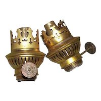 """Pair of German Student Lamp Burners (New Old Stock) thumbwheel marked """"Rund-Brenner * Reform""""  !"""