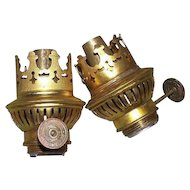 "Pair of German Student Lamp Burners (New Old Stock) thumbwheel marked ""Rund-Brenner * Reform""  !"