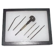 "Signed Engraving Tool Set ""Ezra F. Bowman & Co. Lancaster"" & Patent Dated 1889 for Watchmakers & Jewelers !!!"