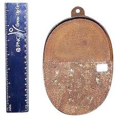 Primitive Sheet Iron Match Holder or Taper Stick Holder !  Pre-Civil War Period.