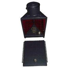 """Rare Triangular Lantern marked """"The Darkroom Paragon Lamp"""" on Match Striker !!!"""