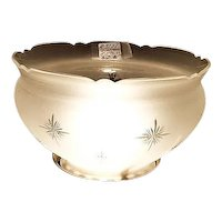 """Frosted & Cut to Clear """"Starburst"""" Patterns with Cut & Beveled Top King's Crown Glass Shade !!! Circa 1900."""