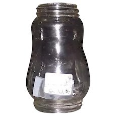 Original Skaters  Lantern Globe with Threaded top & Bottom Glass !