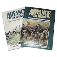 """""""Advance The Colors"""" Pennsylvania Civil War Battle Flags Volume 1 &  2  !!!  Copyrighted 1987 and 1991 set cost over $80.00 new."""