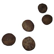 5 Civil War Period Excavated Canon Balls !!!