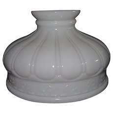 """Embossed """"Mellon Panels"""" Pattern 10 inch Shade for Pressurized Gas or Oil Lamps !!!"""