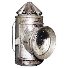 "Rare Miniature Child's Bullseye Whale Oil ""Signal Lantern"" complete with Red & Green Lens Filters !!! Ca. 1870."