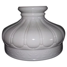 """Embossed """"Mellon Panels"""" Pattern 9  1/2 inch Shade for Pressurized Gas or Oil Lamps !!!"""