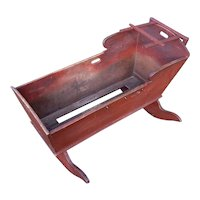 Lebanon County Pennsylvania Original Red Stained Rocking Cradle. Ca. 1850