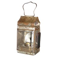 European Clip on Lantern with Red Lens on Reverse ! Ca. 1900