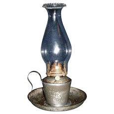 Explosion-Proof Chamber Lamp with Saucer Base and a Jug Handle, Salch's Patent  ! Ca. 1910.