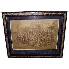 Newburgh, NY. Civil War Veterans Group Framed Photo : Circa 1889 !!!