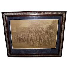 Newburgh, NY. Civil War Veterans Group Framed Photo : Circa 1889 !!!
