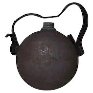 Confederate Militia Drum Canteen with Zinc Screw Cap & Spout !!! Circa 1840's to 1861.