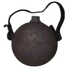 Confederate Militia Drum Canteen with Zinc Screw Cap & Spout !!! Circa 1840's to 1861.