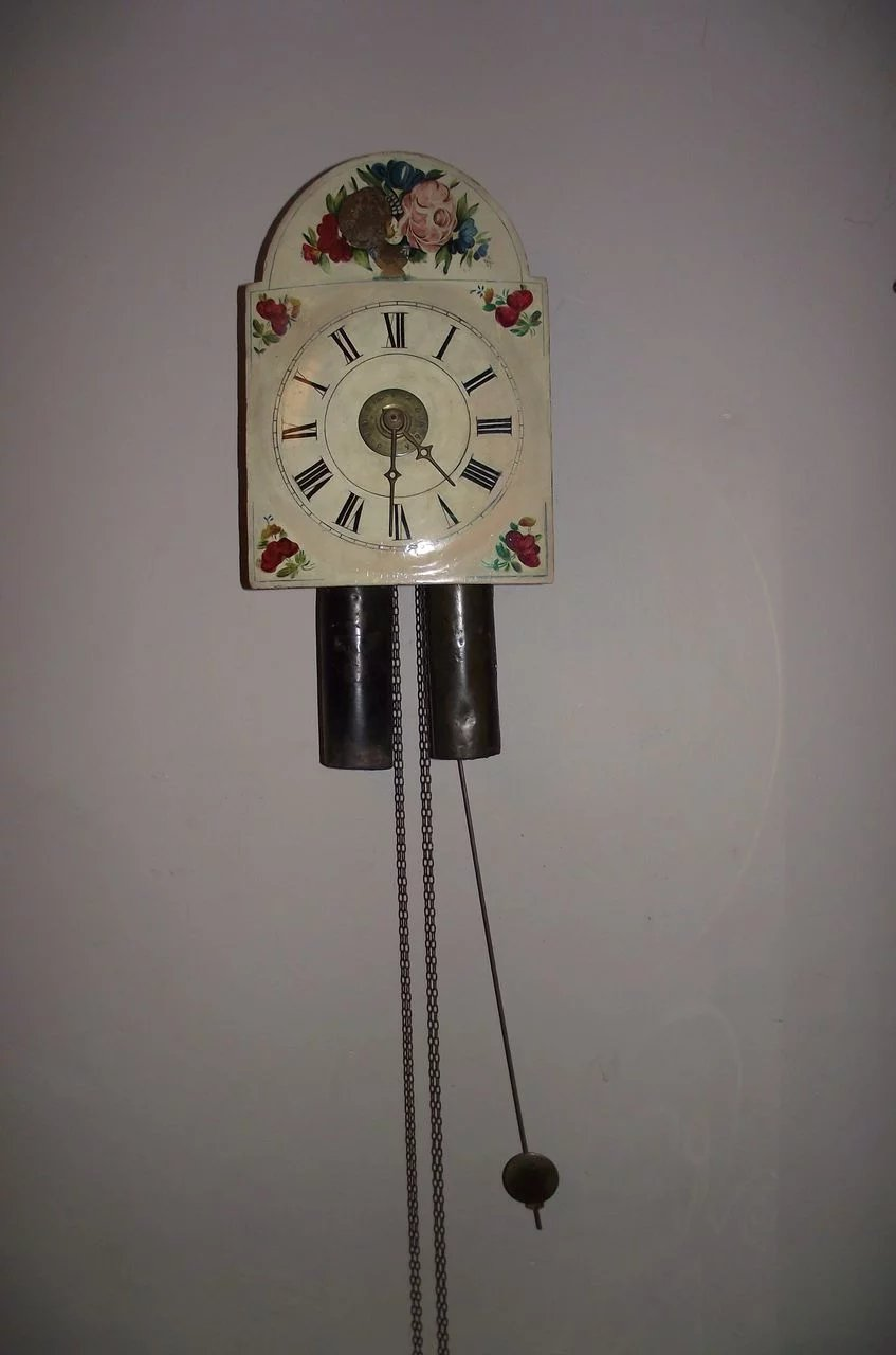 Early 19th Century Quot Wag On Wall Clock Quot Working 30 Hour