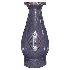 """Engraved Chimney with """"E"""" Monogrammed inside a Diamond !!!  Circa 1900."""