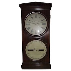 "Rare Seth Thomas ""Office # 2 Regulator & Calendar""  with 14 inch Dials & Rosewood Veneer Case !!! Circa 1870's."