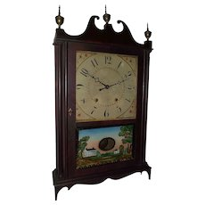 "Authentic ""Eli Terry & Sons"" Pillar & Scroll Clock with Original Mahogany Finish !!!"