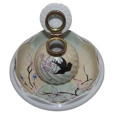 Ladies Inkwell with Artist Hand Painted Birds & Tree Branch !