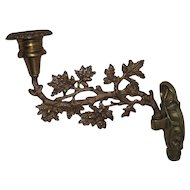 Civil War Period Brass Wall Candle Sconce !!!
