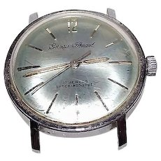 "Rare ""See Through Crystal Back"" on a French ""Gervais Penard"" 17 Jewel  Watch !!!"
