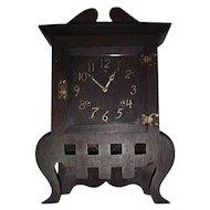 "Rare Mission Oak ""IONA"" Arts & Crafts Model Shelf Clock made by Sessions Clock Co. Circa  1908 !!!"