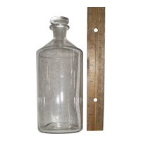 "Civil War Period ""Free Blown Conical Glass Bottle"" with Blown/Molded Glass Stopper ! Circa 1840 -1860."