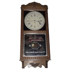 """Near Mint  """"Dr. Pepper"""" Store Advertiser Clock with Calendar Date on Dial !!!"""