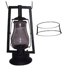 """Rare Pre WW-1 DIETZ """"Square Lift Tubular"""" Model Lantern Circa 1888 to 1904  with Rare """"Ovoid Wire Globe Guard"""" !!!"""