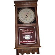 """Authentic """"Dr. Pepper"""" Soda Advertising Store Regulator with Calendar Date made by the Ingraham Clock Co. Circa 1925 !!!"""
